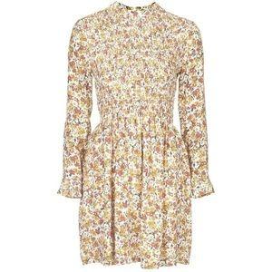 TOPSHOP Floral Print Smocked Dress